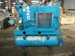 25 Hp Quincy Air Compressor Model Osi25a