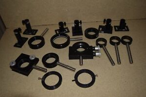 Oriel Optical Lot Of 15 Pieces Mirror Mounts Optical Rods or4