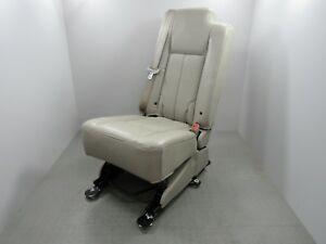 07 17 Expedition Navigator Middle 2nd Row Center Jump Seat Leather Camel Tan B
