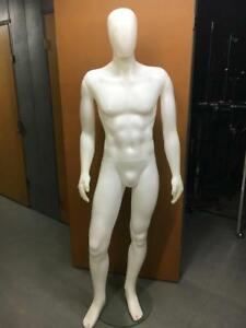 Realistic Male Mannequin W Head glass Base lightweight local Pickup Only