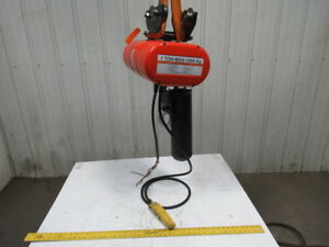 Cm Lodestar Model L 1 Ton Electric Chain Hoist 16fpm Push Trolley 20 Lift 3ph