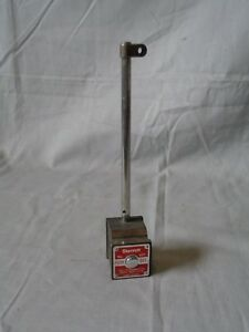 Starrett 657 Magnetic Base With Upright Base Post Rod Indicator Holder 657aa