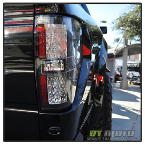 Jetblack Led 09 14 Ford F150 Styleside Lumileds Tail Lights Lamp Pair Left Right
