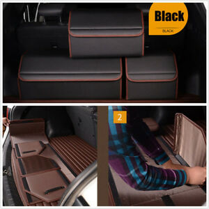 1 X Black Microfibre Leather Car Vehicle Rear Trunk Storage Organizer Bag M Size