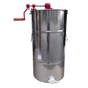 Two Frame Beekeeping Equipment Large Stainless Steel Honey Extractor Bee Outdoor