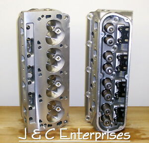New Performance 289 302 351w Ford Cylinder Heads Sbf 500 Springs 195cc Intake