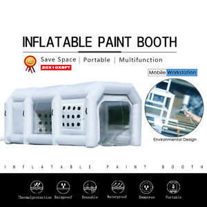 20lx10wx8h Portable Inflatable Paint Spray Booth Tent Mobile Car Workstation