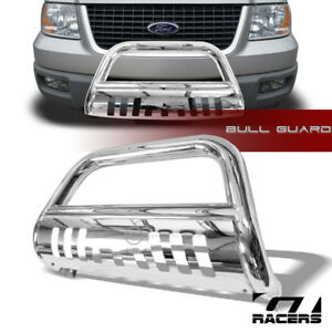 For 2004 2018 Ford F150 Non Ecoboost Stainless Bull Bar Push Bumper Grille Guard