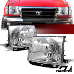For 1997 2000 Toyota Tacoma 2wd 4wd Chrome Housing Headlights Headlamps Lamps Ks