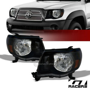 For 2005 2011 Toyota Tacoma Black Clear Headlights Corner Signal Lamps Amber Nb