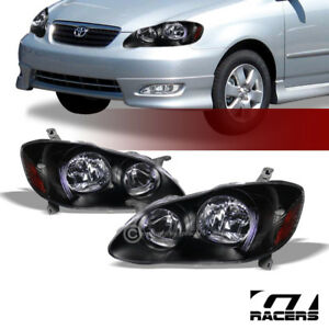 For 2003 2008 Toyota Corolla Oe Black Housing Headlights Signal Lamps Amber Dy