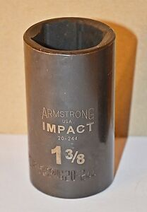 1 3 8 Inch Armstrong Usa 20 244 1 2 Inch Drive 6 Point Deep Impact Socket