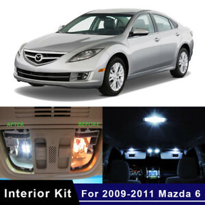 12x White Led Car Interior Bulbs Kit For 2009 2011 Mazda 6 Map Dome Trunk Lights