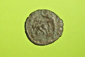 Constantius Gallus Ancient Roman Coin Soldier Killing Persian Horse Man G Vg Old
