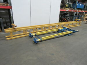 Gorbel 1 Ton Ceiling Mounted Bridge Crane 10 Span X 25 Run W push Pull Trolley