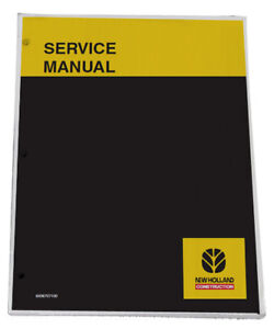New Holland W170c Tier 4 Wheel Loader Service Manual Repair Technical Shop Book