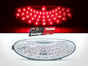 Clear Lens Red Led Replacement Rear Bumper Fog Light Lamp For Peugeot 206 206cc