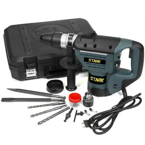 1 1 2 Sds Electric Rotary Hammer Drill Plus Demolition Bit Variable Speed Case