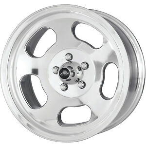 15x7 Polished American Racing Vintage Ansen Wheels 4x4 5 0 Ford Mustang