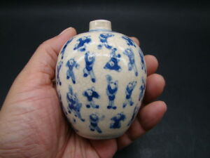 Chinese Kang Xi 1662 1722 Period And Mark Blue White Small Jar S4531