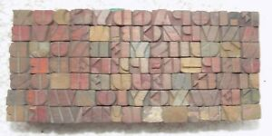 84 Piece Vintage Letterpress Wood Wooden Type Printing Blocks 7m m bc 5015
