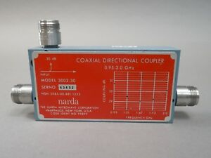 Narda 3002 30 Coaxial Directional Coupler 0 95 2 Ghz Used