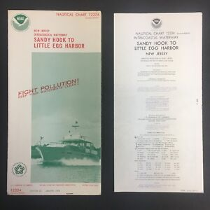 1976 Nautical Chart Map 12324 W Cover 15x58 Ex New Jersey Sandy Hook 10318