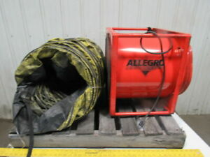 Allegro Model 9515 115v 1 2hp 3400cfm Confined Area Explosion Proof Axial Blower