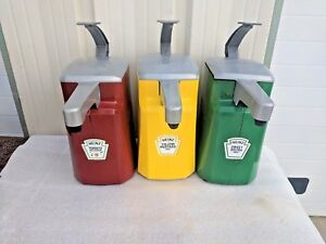 3 New W Defect Heinz 1 5 Gallon Condiment Dispensers Commercial Ketchup Mustard