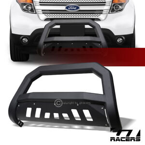 For 2011 2018 Ford Explorer Suv Matte Blk Avt Edge Bull Bar Brush Bumper Guard