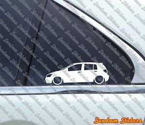 2x Lowered Car Outline Stickers For Hyundai Getz 5 door 2002 2004 Tb
