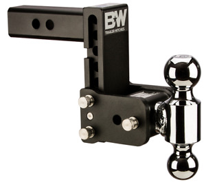 B W Black Tow Stow Dual Ball Hitch Receiver 1 7 8 2 Ts10038b Adjustable
