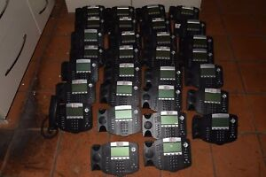 Polycom Soundpoint Ip 650 Ip650 Lot Of 30 Voip Telephones W 30 Handsets c3