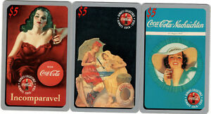 3 x $5 Coca Cola Phone Cards #'d Sprint US 1995 COKE Limited Phonecards Lot2