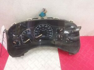 01 02 Chevy Silverado 2500 Speedometer Cluster Mph Automatic 5 Speed Opt M74 Oem