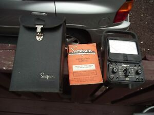 Vintage Simpson Model 260 Series 6 W case And Instructions Clean Battery Area