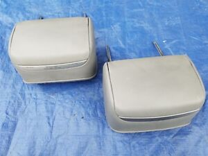 Bmw E46 Convertible Rear Seat Headrests Pair Set 02 06 Gray Grey Grau Leather