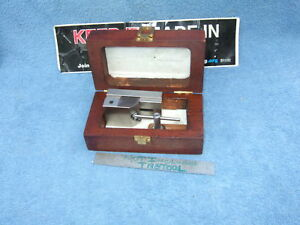 Grind Vise 3 Oscar Schmidt Toolmaker Machinist With Case wrench Used Clean Tool