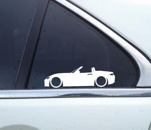 2x Lowered Car Outline Stickers For Mazda Mx5 Miata Nd Roadster