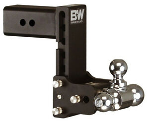 Bw Black Tow Stow Tri Ball Hitch Receiver 1 7 8 2 2 5 16 Ts30049b Adjustable 3