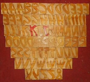 71 Letterpress Letter Wood Type Printers Block a To Z 2 5 Inches S2279