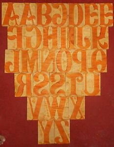 30 Letterpress Letter Wood Type Printers Block a To Z 6 Inches S2277