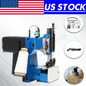 Us 180w Portable Electric Sealing Stitching Sewing Bag Closer Woven Machine 220v