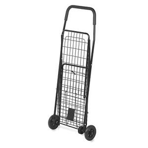 Honey can do Crt 01511 Folding Shopping Cart Rolling 4 wheel Utility Wagon