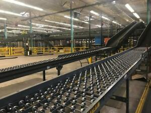 Large Selection Of Roller Skate Powered Conveyor 24 Widths All Types