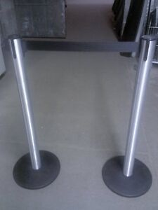 Stanchions Crowd Control Posts Customer Divider Used Store Fixtures Liquidation