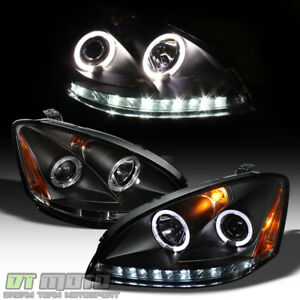Black For 2002 2004 Altima Led Drl Halo Projector Headlights 02 03 04 Headlamps