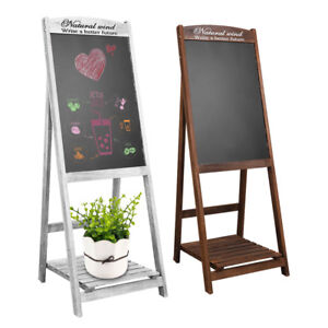 Vintage Chalkboard Wood Frame Stand Up Chalkboard For Bar Countertop Us Shipping