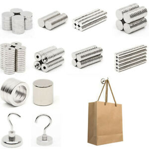 1 100pcs Small N52 Super Strong Magnets Disc Round Rare earth Neodymium Magnet