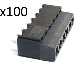 Lot Of 100 Buchanan 6 Position Wire To Board Terminal Block 796949 6